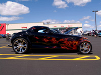 2000 Plymouth Prowler flames