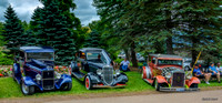 Hot Rods!! 1934 Ford pickup, 1934 Ford coupe & 1929 Essex Super