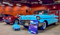 1957 Chevrolet Bel Air convertible & 1960 Corvette