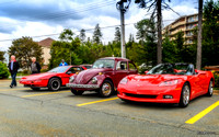 2006 Corvette C6 convertible, VW Beetle, Pontiac Fiero
