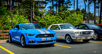 2017 Ford Mustang & 1966 Ford Mustang