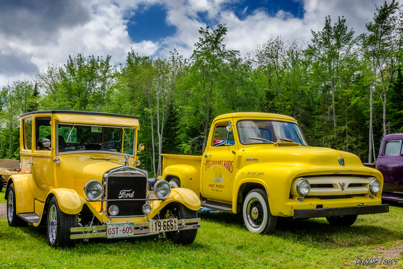 Yellow Fords - 1927 Ford Model T hot rod & 1953 Ford F100 pickup