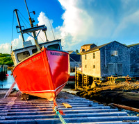Fishing Boat Harbour Mist, Peggys Cove